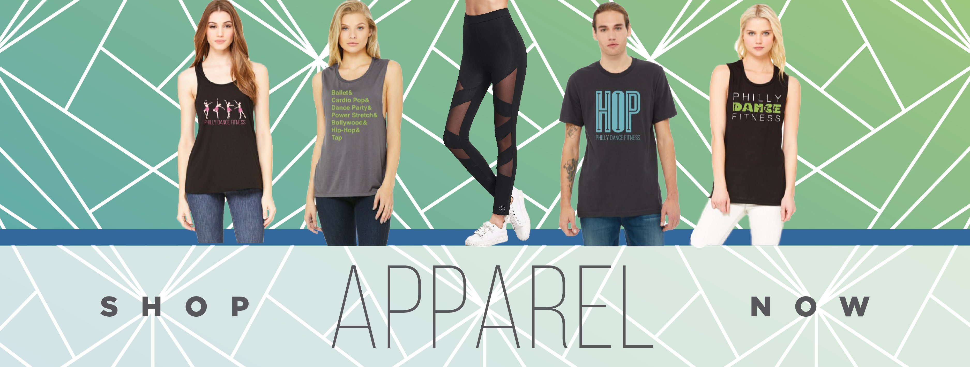 5828e3fb8 Step up your dance fitness game with a little extra swag! Check out our  line of super-soft tanks, tees, comfortable shorts and stylish leggings so  you can ...